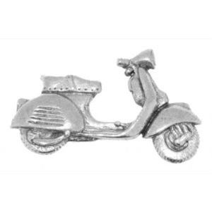 English Pewter Vespa Scooter Tie Pin or Lapel Badge