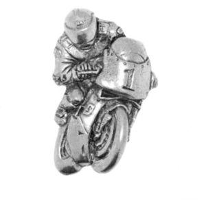 Racing Bike English Pewter Tie Pin or Lapel Badge
