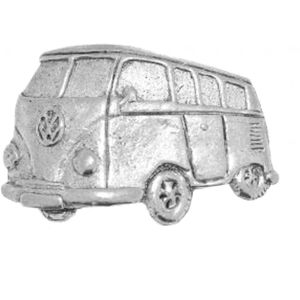 English Pewter Camper Van Tie Pin or Lapel Badge