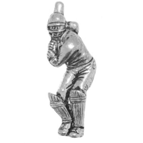 Cricket Batsman Pewter Tie Pin / Lapel badge