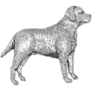 English Pewter Labrador Tie Pin or Lapel Badge