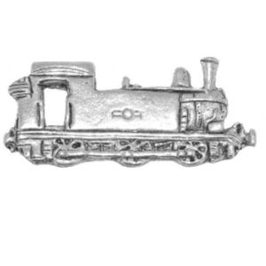 English Pewter Steam Railway Engine Tie Pin Lapel Badge