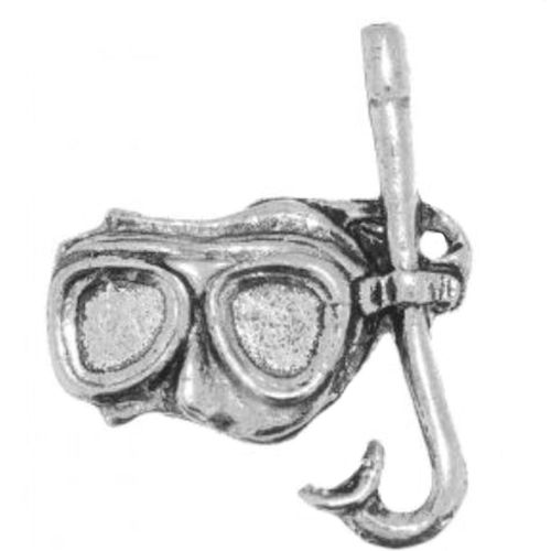 English Pewter Diving Snorkel Mask Tie Pin badge