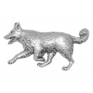 Border Collie Pewter Tie Pin or Lapel badge