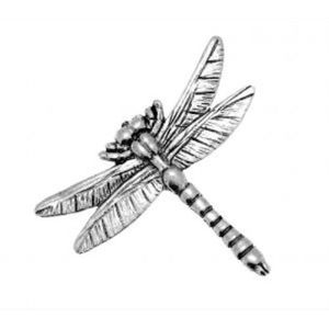 English Pewter Dragonfly Tie Pin or Lapel Badge