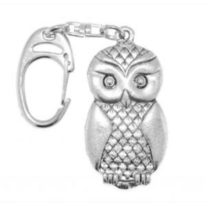 English Pewter Owl Keyring