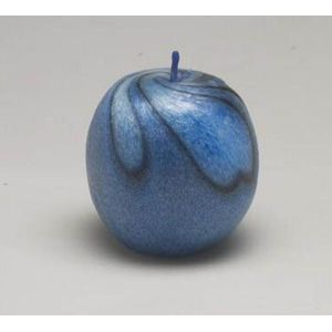 Decorative Candle - Small Apple (Blue)