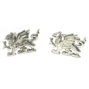 Welsh Dragon Pewter Cufflinks