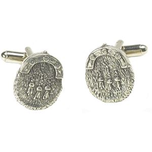 English Pewter Sporran Cufflinks