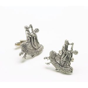 English Pewter Ballroom Dancers Cufflinks