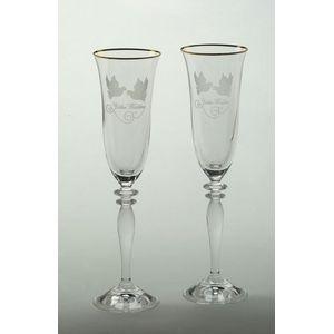 Golden Wedding Flute Glasses Set