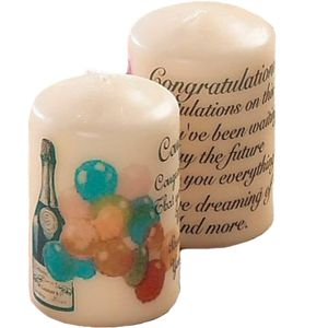Sentiment Wedding Favour Candle - Congratulations