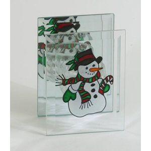 Christmas Tea Light Candle Holder - Snowman