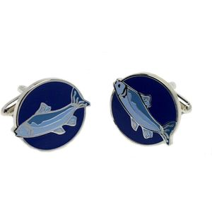 Blue Fish Cufflinks