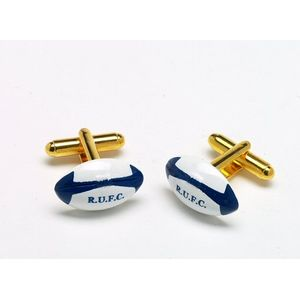 RUFC Rugby Ball Cufflinks