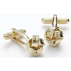 Love Knot Cufflinks - Gilt Finish