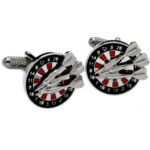 Onyx Art of London Darts and Dartboard Cufflinks