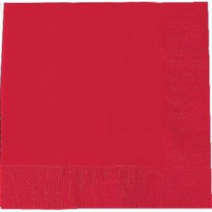 Pack of 20 Napkins - Red.