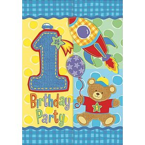 1st Birthday Party Invitations (Boy)