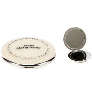 Wedding Party Keepsake Mirror Compact - For Our Maid of Honour