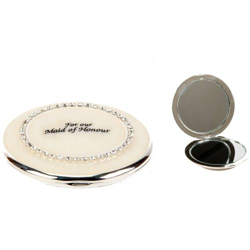 Juliana Wedding Party Keepsake Mirror Compact - For Our Maid of Honour