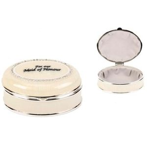 Juliana Wedding Party Trinket Box - For Our Maid of Honour Keepsake Gift