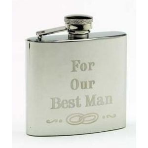 Harvey Makin Best Man Hip flask