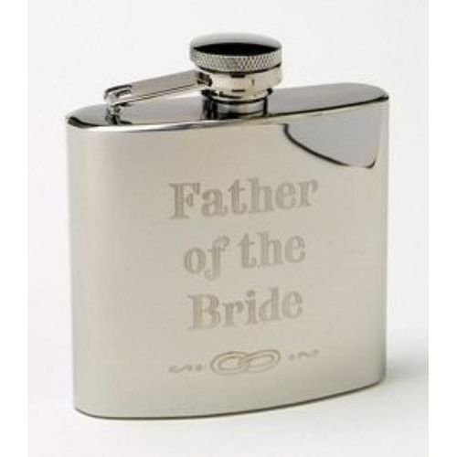Father of the Bride 4oz stainless steel  Hipflask
