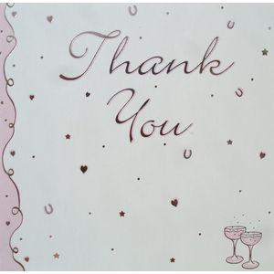 Wedding Thank You Cards - Pink Champagne