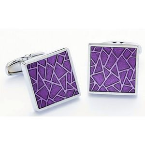 Purple Mosaic Dress Cufflinks