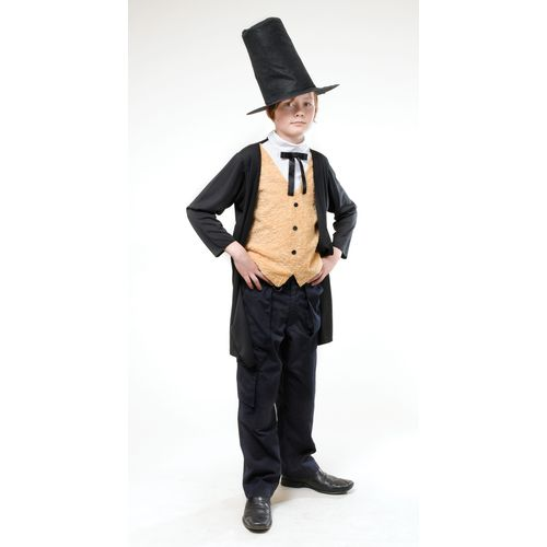 Childs Victorian Gent Fancy Dress Costume Age 7-9 Years