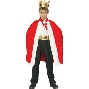 Childs King Robe & Crown Costume Age 7-9 Years