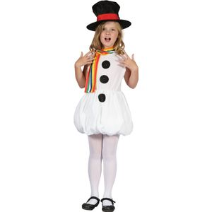 Childs Snow Girl Snowman Costume Age 5-7 Years