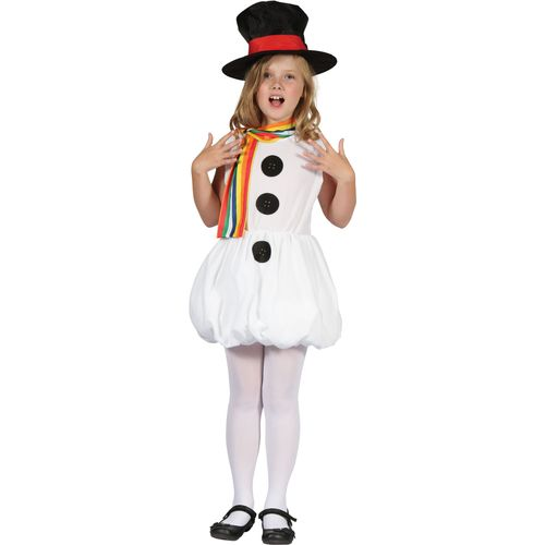 Childs Snowgirl Snowman Christmas Fancy Dress Costume Age 9-11 Years