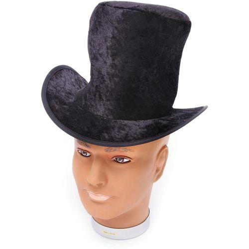 Childs Balck Velvet Top Hat Fancy Dress Costume Accessory