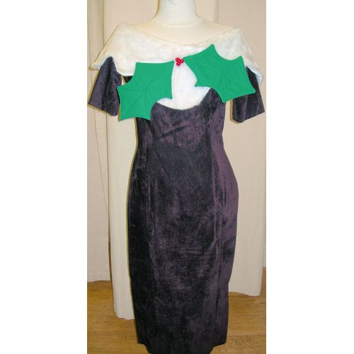 Christmas Pudding Dress Ex Hire Sale Costume Size 8-10