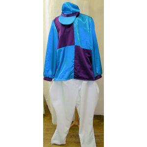 Purple & Blue Jockey Ex Hire Sale Costume