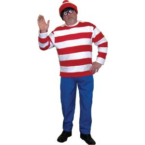 Red & White Striped Man Ex Hire Costume Size L-XL