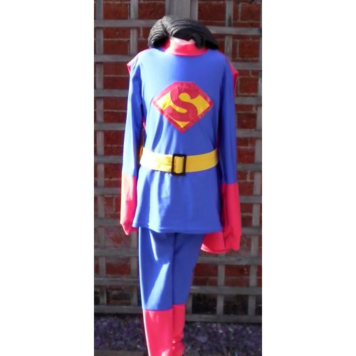 Superman Junior Ex Hire Fancy Dress Sale Costume Age 9-11 Years