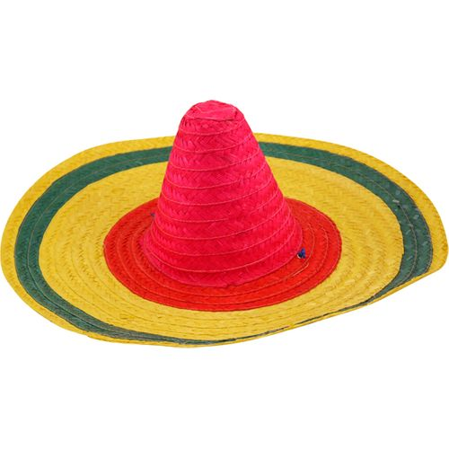 Multi Coloured Mexican Sombrero Hat Fancy Dress Costume Accessory