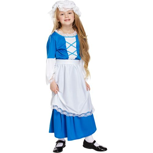 Childs Poor Tudor Girl Fancy Dress Costume Age 7-9 Years
