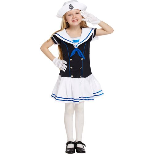 Childs Sailor Girl Fancy Dress Costume Age 7-9 Years