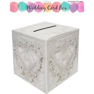 Wedding Card Box Heart Design 30cm x 30cm