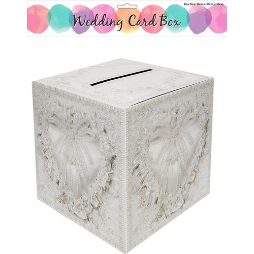 Wedding Card Box Heart Design 30cm x 30cm Wedding Day Accessory