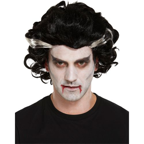 Vampire Man Halloween Costume Accessory Fancy Dress Wig