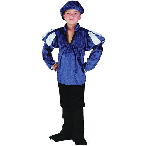 Childs Medieval Tudor  Prince Fancy Dress Costume Age 9-11 Years