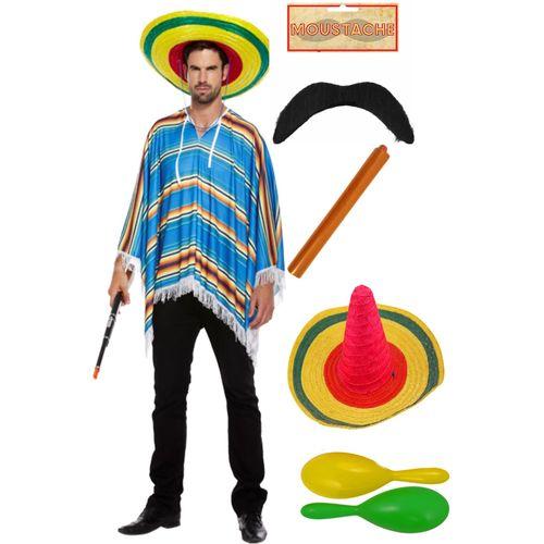Mexican Set Costume & Accessory Set Fancy Dress Accessory Sombero