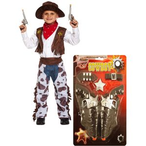 Childs Cowboy Costume Age 10-12 Years with Accessories