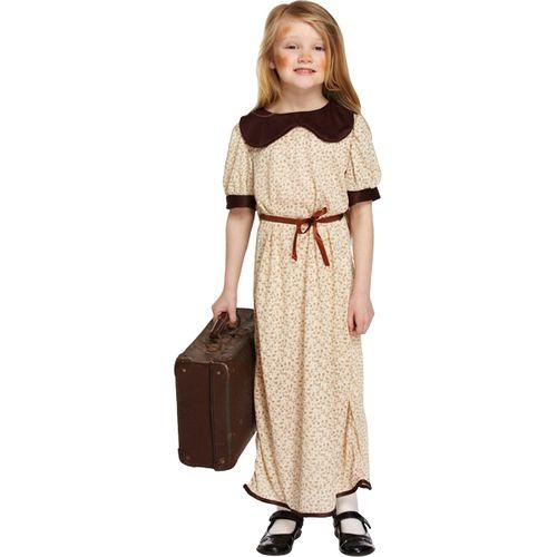 Childs Evacuee Girl Fancy Dress Costume Age 7-9 Years