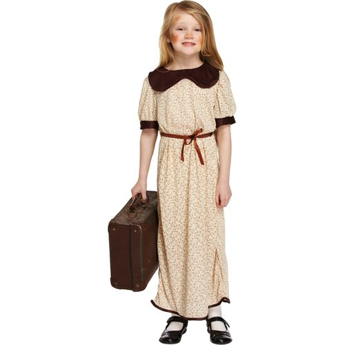 Childs Evacuee Girl Fancy Dress Costume Age 4-6 Years